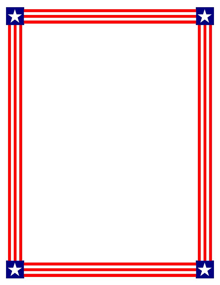 765x990 Flag Border Clip Art