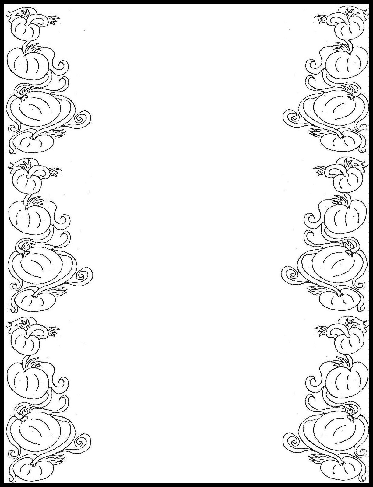 1225x1600 Border Design Drawing For Boys Clip Art 8 Page Borders Hand
