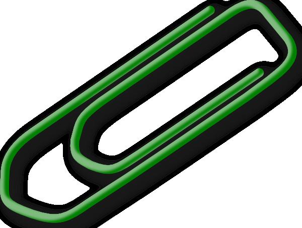 600x453 Green Paperclip Clip Art