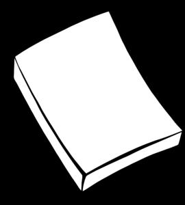 270x300 Pad Of Paper Clip Art