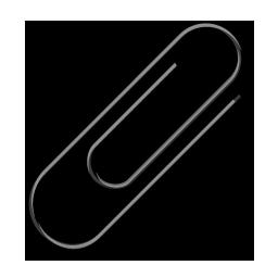 256x256 Paper Clip 4 Black Icon