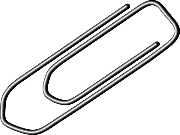 600x451 Paper Clip Clip Art Free Vector In Open Office Drawing Svg ( Svg