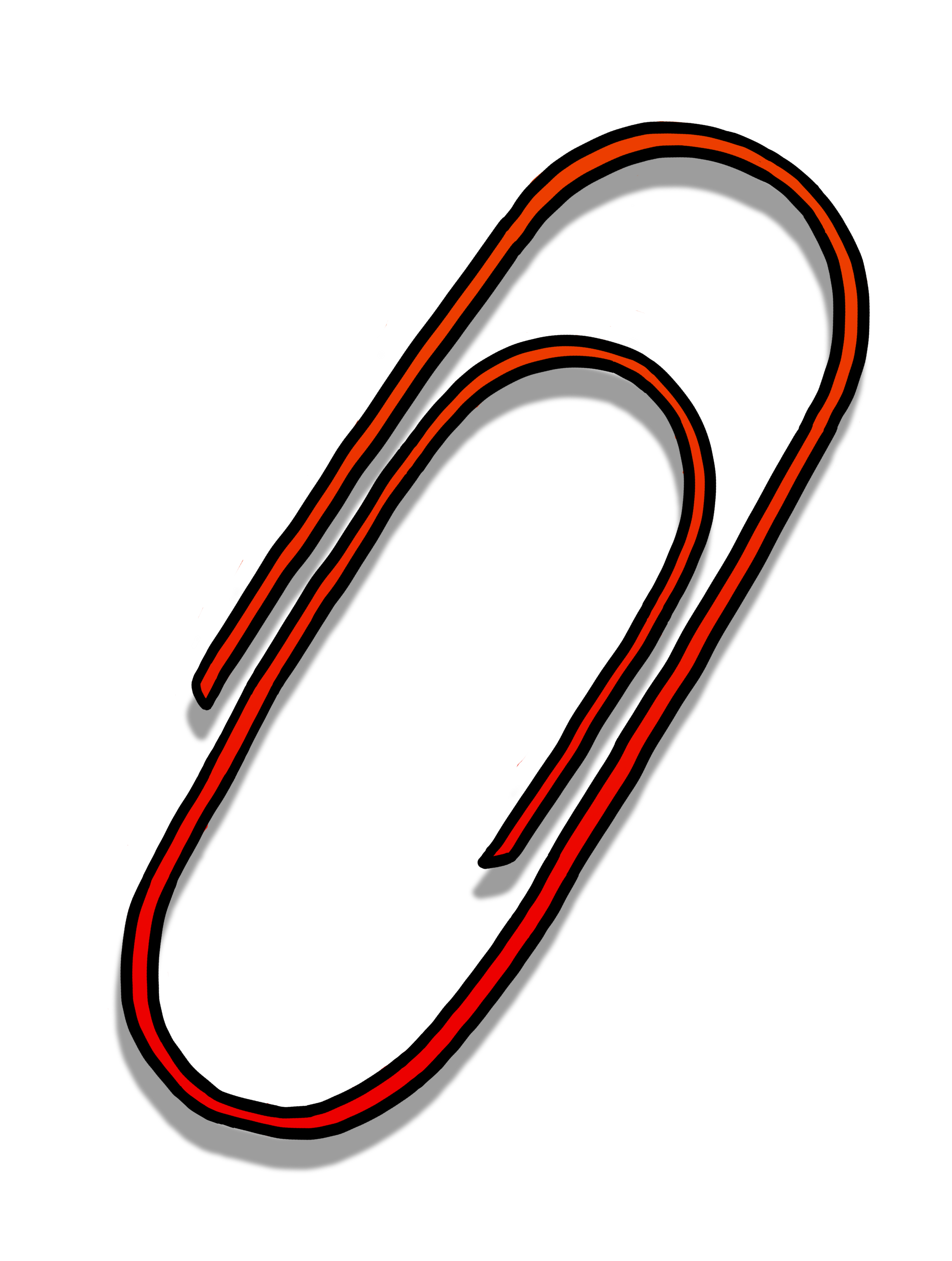 2906x3847 Paperclip Clipart