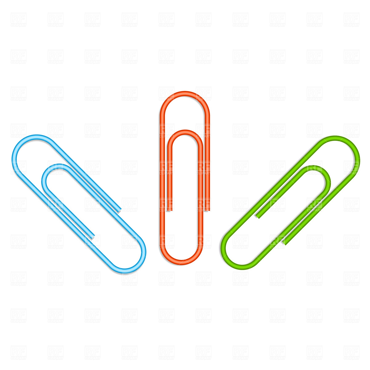 1200x1200 Set Of Metallic Paper Clips Royalty Free Vector Clip Art Image