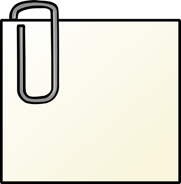 588x598 Note With Paperclip Clip Art Free Vector In Open Office Drawing