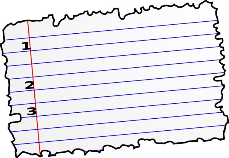 760x526 Notebook Paper Clip Art