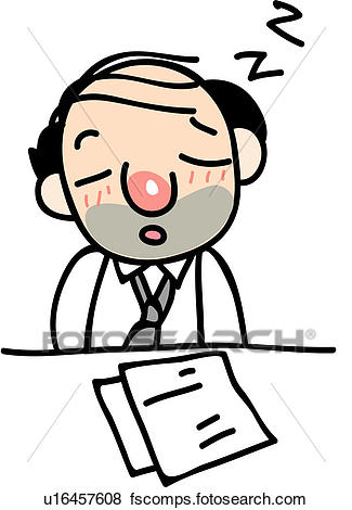 325x470 Clip Art Of Drowsy, Desk, Drunk, Sleeping, Paper, Human U16457608