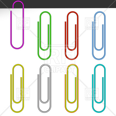 400x400 Colored Paper Clips Royalty Free Vector Clip Art Image