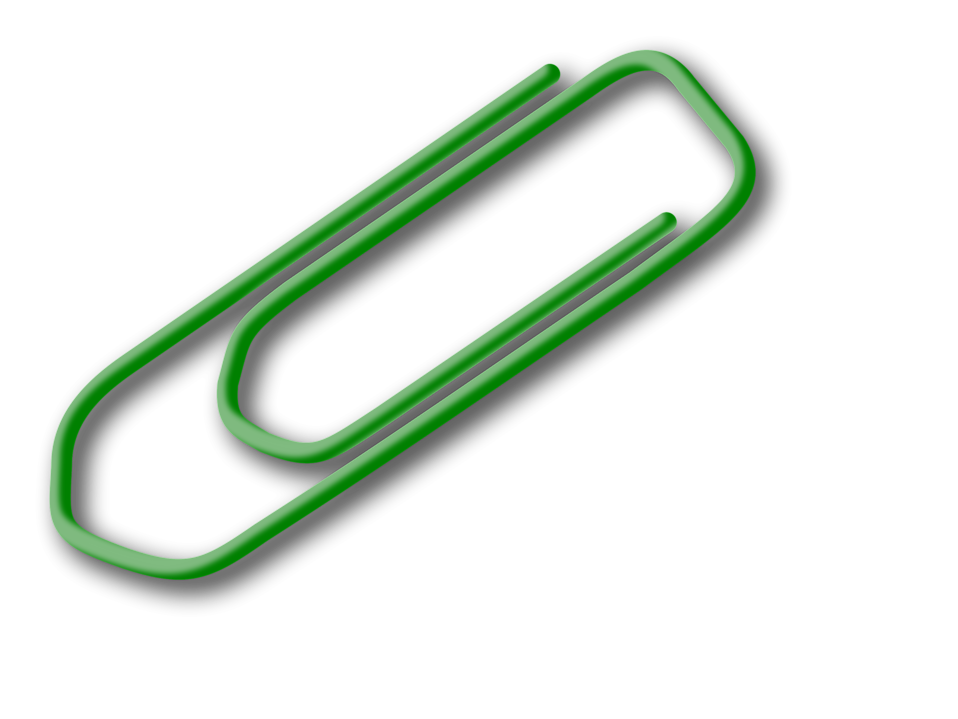958x719 Paper Clip Free Stock Photo Illustration Of A Paper Clip