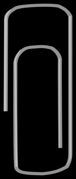 252x595 Paper Clip 2 Clip Art