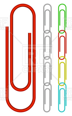 250x400 Chain From Paper Clips Royalty Free Vector Clip Art Image