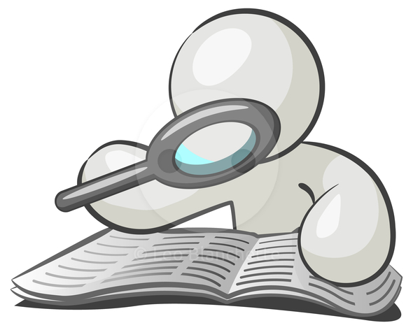 590x472 Paper Clipart Magnifying Glass