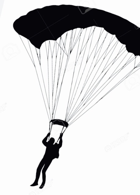 460x639 Skydiving Clipart Grandma