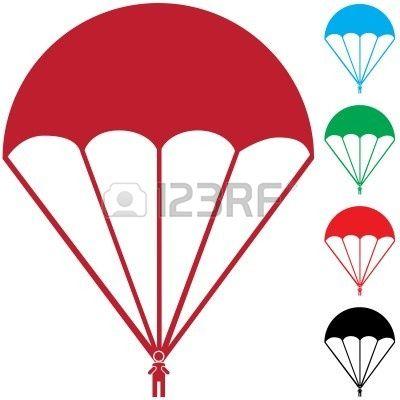 Parachutes Clipart