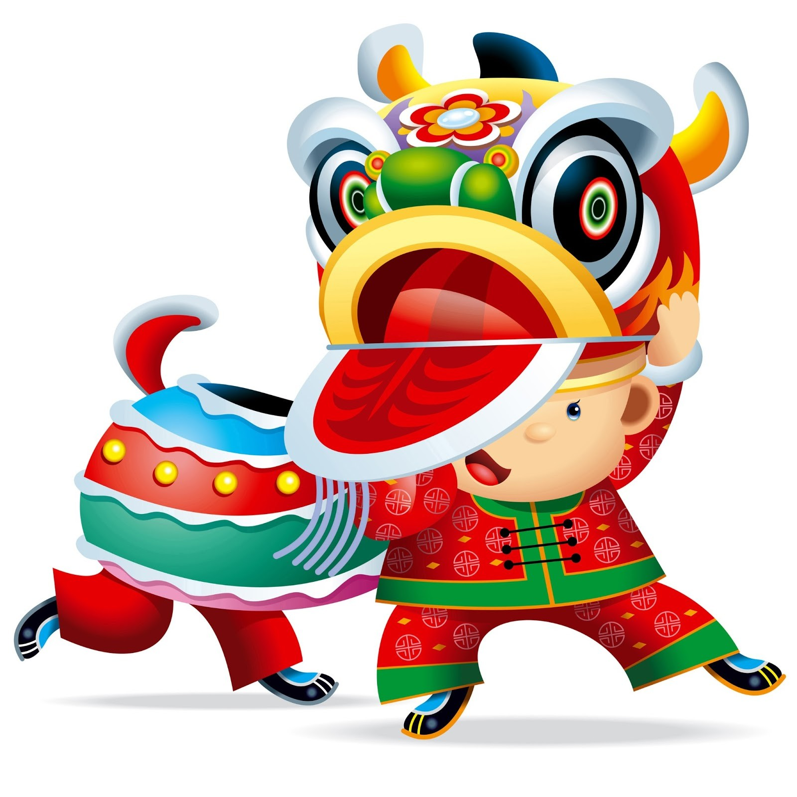 1600x1600 Asians Clipart Chinese Dragon Parade