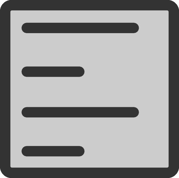 600x596 Paragraph Align Left Clip Art