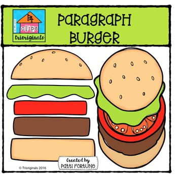 347x350 Paragraph Burger {P4 Clips Trioriginals Digital Clip Art} Tpt