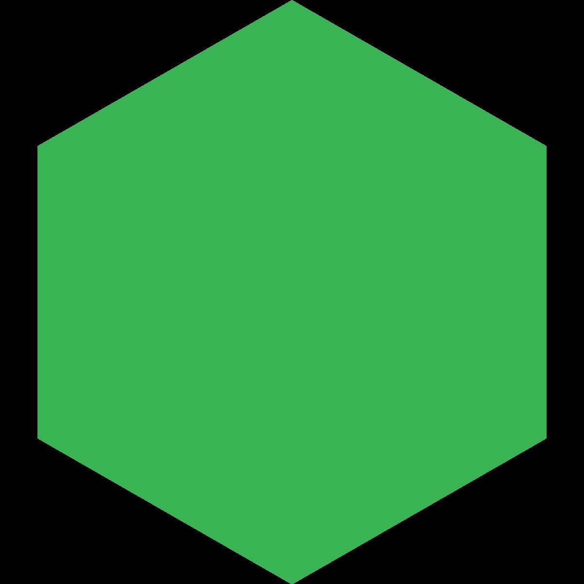 1200x1200 Hexagon Clipart Green