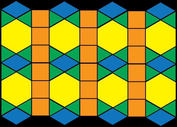 722x519 Math Clip Art Tessellation Pattern 3