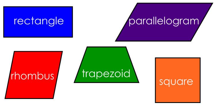 752x366 Quadrilateral Shapes Clip Art