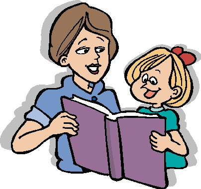 404x380 Parent Reading Clip Art Clipart
