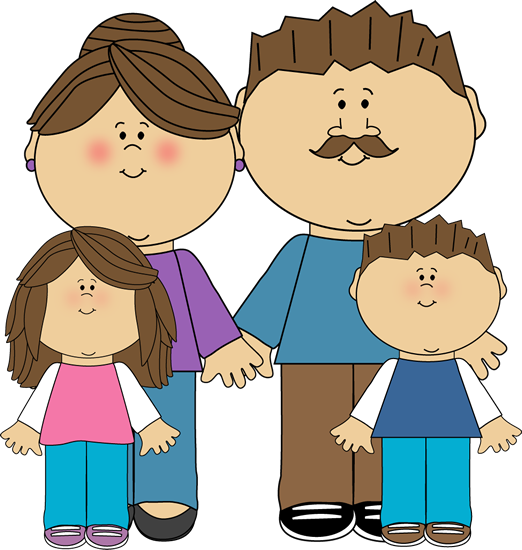 522x550 Parents And Children Clip Art Image