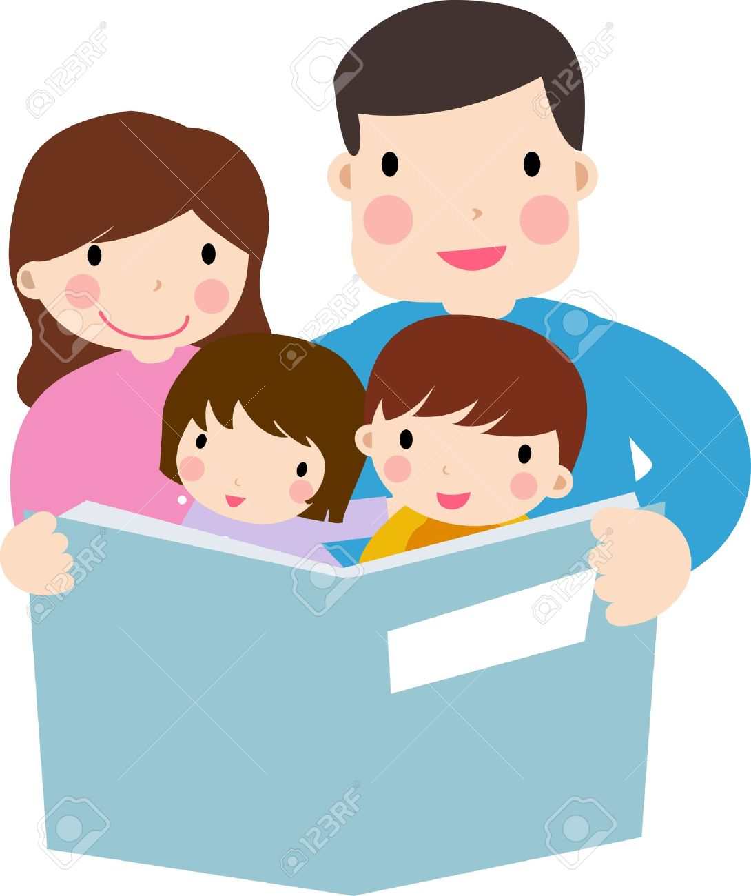 1090x1300 Children Reading With Parents Clip Art 101 Clip Art