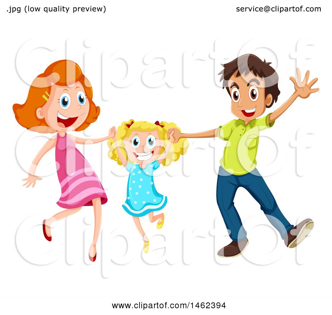 1080x1024 Clipart Of A Happy Daughter And Her Parents