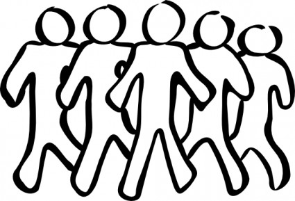 425x289 Volunteers Clip Art Black And White Free Clipart 3