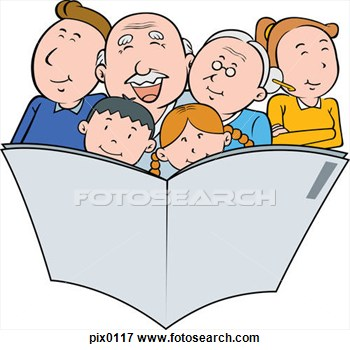 350x350 Clipart Of Child And Parent Reading
