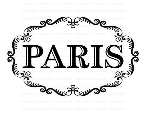 500x387 The Word Paris Clip Art 19