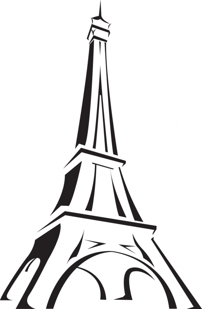670x1024 Simple Eiffel Tower Drawing How To Draw Eiffel Tower Paris Eiffel