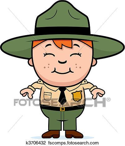 402x470 Clipart Of Kid Park Ranger K3706432
