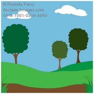 300x300 Art Illustration Of A Park Background Scene