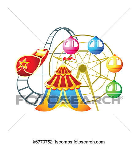 450x470 Clipart Of Amusement Park Symbol K6770752
