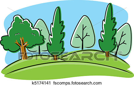 450x290 Clipart Of Cartoon Park K5174141