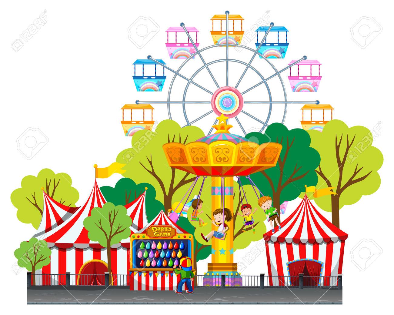 1300x1039 Park clipart fun park
