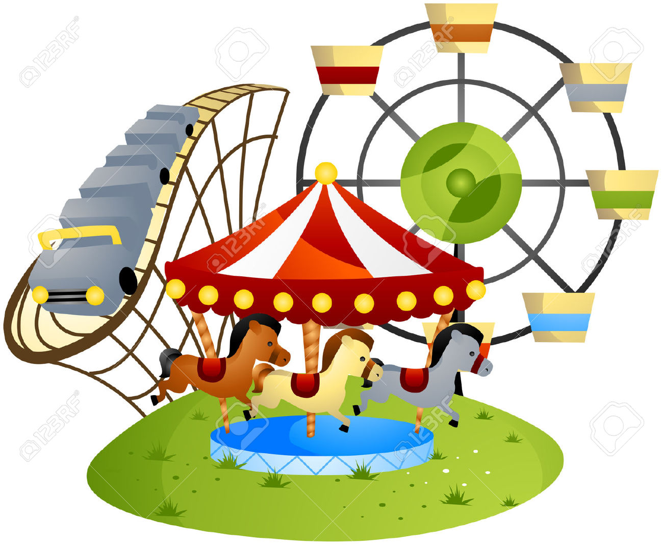 1300x1071 Park clipart theme park