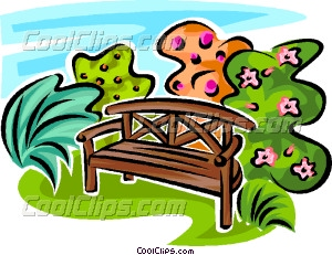 300x231 Park Bench Vector Clip Art