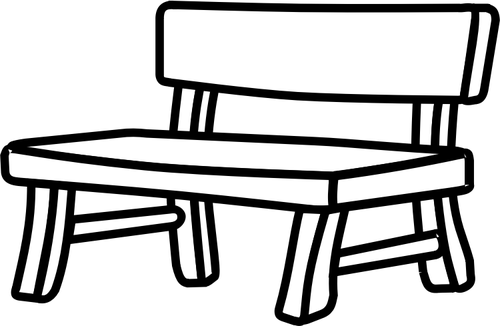 500x326 Clip Art Black And White Bench Clipart
