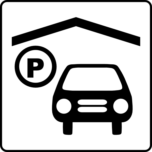 600x600 Hotel Icon Has Indoor Parking Clip Art