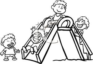 300x207 At The Park Clipart Black And White