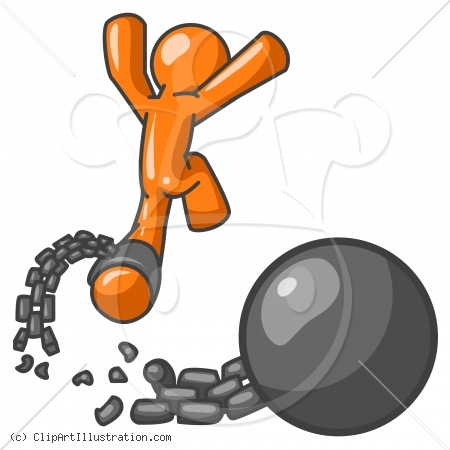 450x450 Man In Chains Clipart