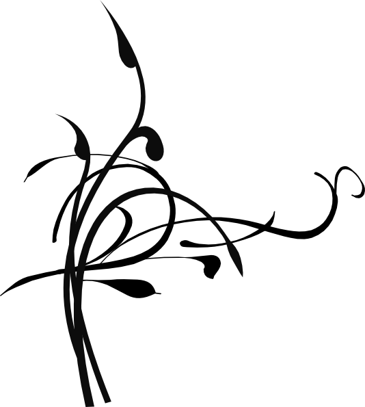 534x595 Black Birds On A Branch Clip Art