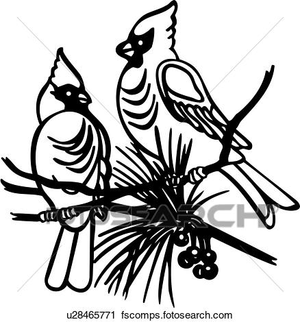 438x470 Clipart Of , Bird, Species, Cardinal, Holiday, U28465771