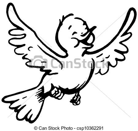 450x429 Black And White Flying Bird Clipart