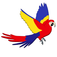 190x190 Red Parrot Fly T Shirt Spreadshirt