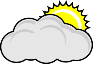 297x207 Partly Cloudy With Sun Clip Art