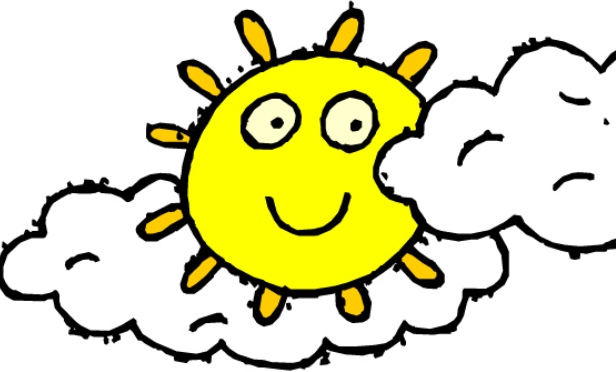 616x372 Partly Cloudy Clipart