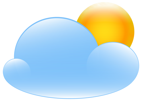 500x355 Partly Cloudy With Sun Weather Icon Clip Art Web Clipart